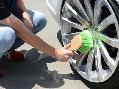 Felgen und Reifen Bürste kurz 3