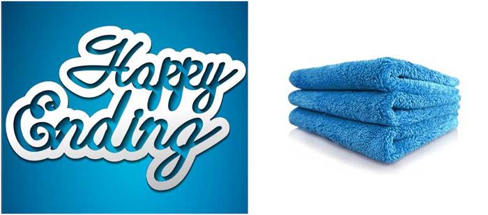 Happy Ending Mikrofasertuch blau 1