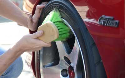 Felgen und Reifen Bürste kurz 1