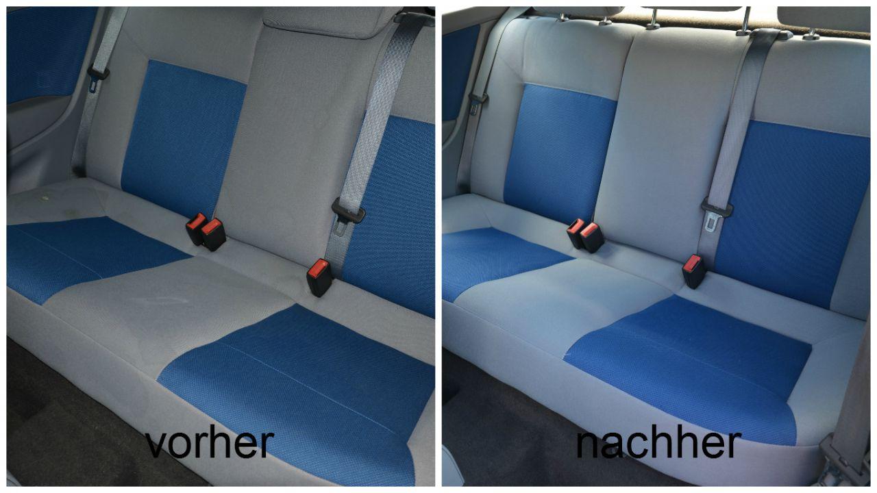 reinigung der autositze glanzst ck shop. Black Bedroom Furniture Sets. Home Design Ideas